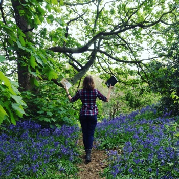 walking in bluebells